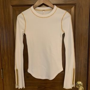 Free people zippered sleeve top